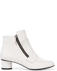 Opening Ceremony Zan Glossed Leather Ankle Boots