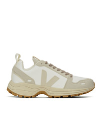 Rick Owens Off White And Tan Veja Edition Vegan Hiking Sneakers