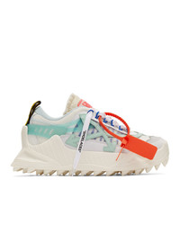 Off-White White And Blue Odsy 1000 Sneakers