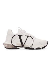 Valentino White Garavani V Logo Bounce Sneakers