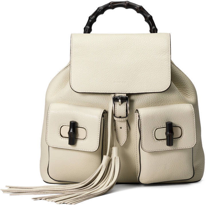 d9a6394db8e ... Gucci Bamboo Leather Backpack ...