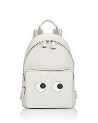 Anya Hindmarch Eyes Mini Backpack White