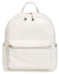 Faux leather backpack white medium 1248548