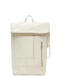 Rick Owens White Tecuatl Duffle Backpack