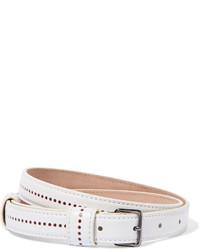 Alaia Alaa Perforated Leather Belt
