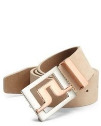 J. Lindeberg Golf Two Toned Buckle Leather Belt