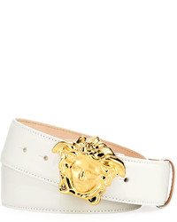 Versace Leather Medusa Buckle Belt