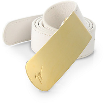 Giuseppe Zanotti Leather Plaque Belt