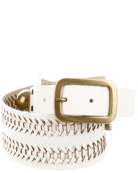 Diane von Furstenberg Leather Woven Waist Belt