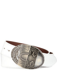 Maison Margiela Oval Mixed Pattern Leather Belt