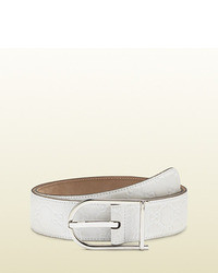 Gucci Rubber Sssima Leather Belt