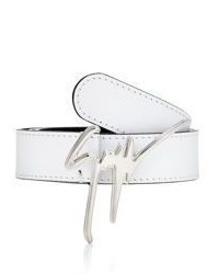 Giuseppe Zanotti Signature Buckle Leather Belt
