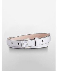 Calvin Klein Square Buckle Slim Leather Belt