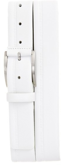 BOSS Tymos Logo Emed Leather Belt