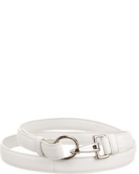 Jil Sander White Leather Belt