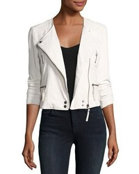 Beline leather moto jacket white medium 3679707