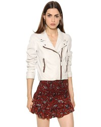 Etoile isabel marant washed leather biker jacket medium 958590