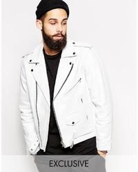 Leather biker jacket medium 583976