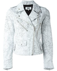 MM6 MAISON MARGIELA Crack Effect Biker Jacket