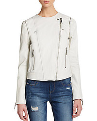 Rachel zoe dixie leather convertible jacket medium 262661