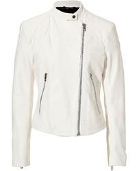 Rag and Bone Rag Bone Leather Jacket In Antique White