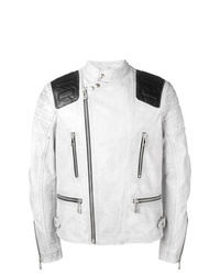 91356dee6 White Leather Jackets for Men | Men's Fashion | Lookastic.com