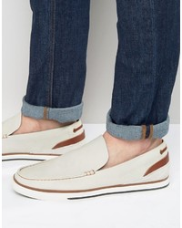 Aldo Montessoro Slipon Leather Boat Shoes