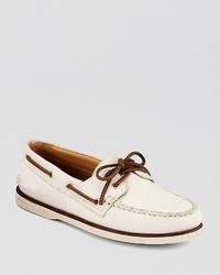Sperry Gold Eyelet Leather Boat Shoes