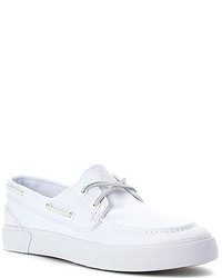 Men's White Leather Boat Shoes from shoes.com | Men's Fashion