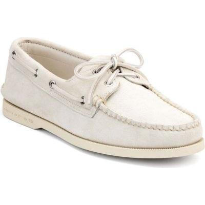 048b0f35d1a8 ... Sperry Topsider Shoes Authentic Original Boat Shoe By Made In Maine  Chalk Leather