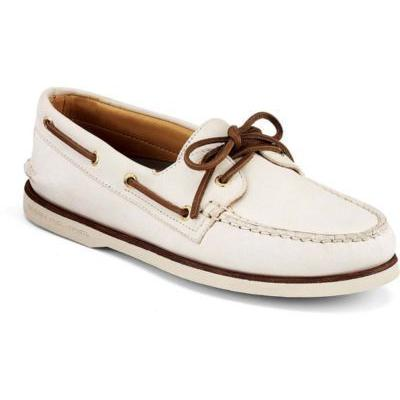 b874753134 ... Sperry Topsider Shoes Gold Cup Authentic Original 2 Eye Boat Shoe Ivory  Leather