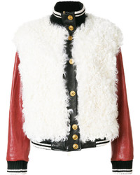 Fausto Puglisi Leather Bomber Jacket