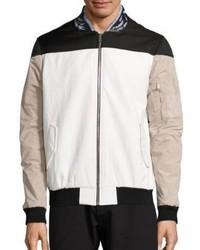 Les Benjamins Leather Collar Bomber Jacket