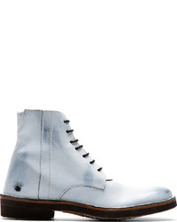 Maison Martin Margiela Off White Overpaint Leather Boots