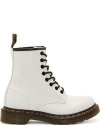 Dr. Martens White Leather 1460 W 8 Eye Boots