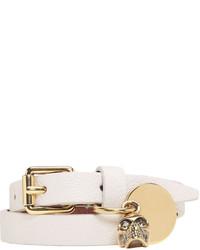 Alexander McQueen Off White Double Wrap Skull Bracelet