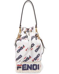 Fendi Ed Fringed Leather Shoulder Bag