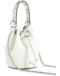 Forever 21 Faux Leather Grommet Crossbody Bucket Bag