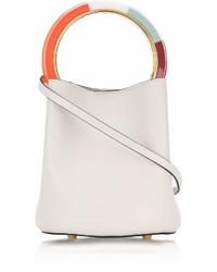 Marni Glass Leather Pannier Bucket Bag