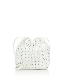 Barneys New York Jessica Mini Bucket Bag White Size Os