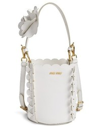 Leather bucket bag white medium 3654775