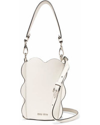 Miu Miu Leather Bucket Bag White