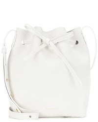 Mansur Gavriel Leather Cross Body Bucket Bag