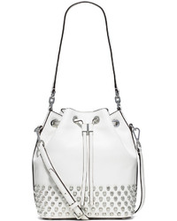 MICHAEL Michael Kors Michl Michl Kors Dottie Studded Leather Large Bucket Bag Dove