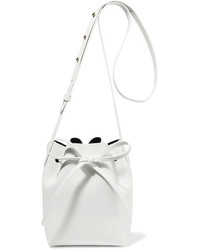 Mansur Gavriel Mini Mini Leather Bucket Bag White