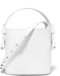 Nico Giani Adenia Mini Leather Bucket Bag White