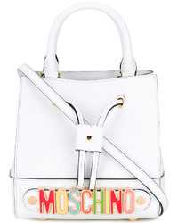 Moschino Rainbow Plaque Bucket Bag