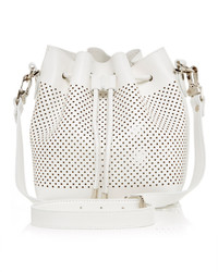 Proenza Schouler Small White Leather Perforated Bucket Bag
