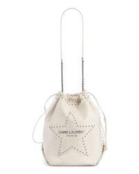 Saint Laurent Teddy Star Studded Leather Bucket Bag