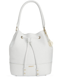 DKNY Tribeca Soft Tumbled Leather Drawstring Bucket